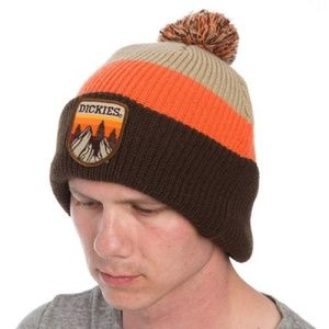 d7e7dabd3c8 Dickies Tri-Color Beanie Hat Winter Warm Thick